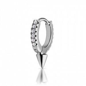 Maria Tash Single 6.5mm Short Spike Diamond Hoop